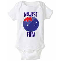 Australia Newest Fan Baby Bodysuit