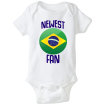 Brazil Newest Fan Baby Bodysuit