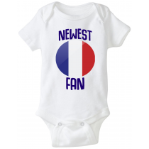 France Newest Fan Baby Bodysuit
