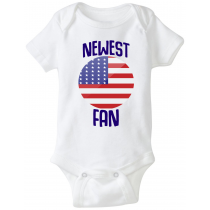 United States Newest Fan Baby Bodysuit