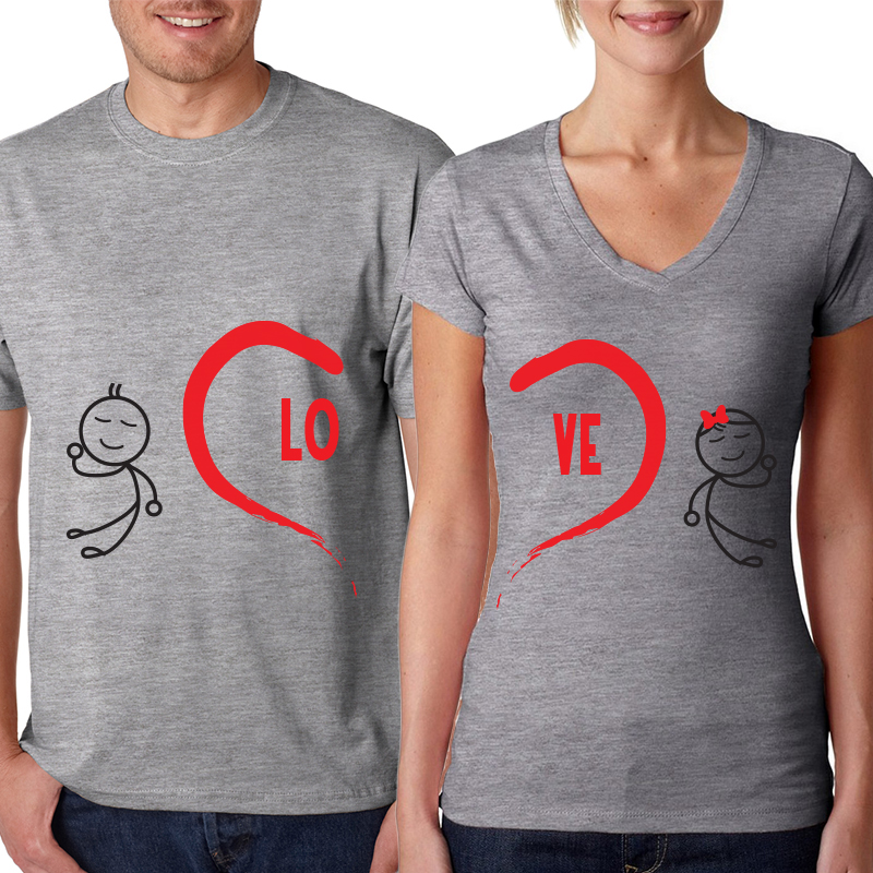 Valentine's Day Couples Matching T-shirt