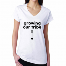 Babyshower's Women's T-shirt Growing Our Tribe
