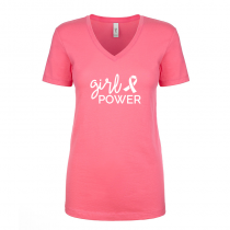T-shirts V-Neck Women's Tee Girl Power