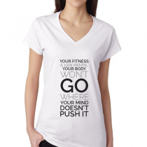 Fitness Women's T-shirt Workout Your Fitness Is 100% Mental