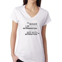 Fitness Women's T-shirt Workout Wake Up With Determination...