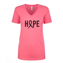 T-shirts V-Neck Women's Tee Hope