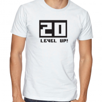 Men's Gamers T-Shirts Video Games Tee 20 Level Up!