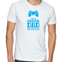 Men's Gamers T-Shirts Video Games Tee I'm A Gamer Dad, Like A Normal Dad Only Much Cooler