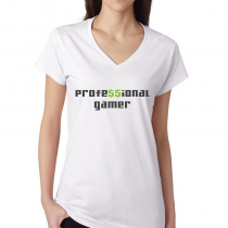 Women's Gamers T-Shirts Video Games Tee Professional Gamer