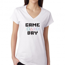 Women's Gamers T-Shirts Video Games Tee Game Day