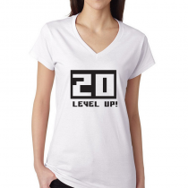 Women's Gamers T-Shirts Video Games Tee 20 Level Up!