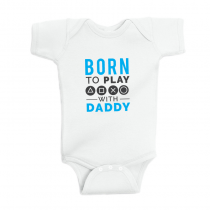 Gamers T-Shirts Video Games Tee Born To Play With Daddy