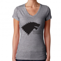 Women's Game Of Thrones T-Shirts Winter Is Coming