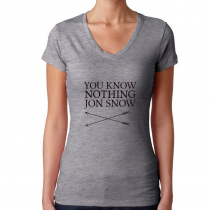 Women's Game Of Thrones T-Shirts You Know Nothing Jon Snow