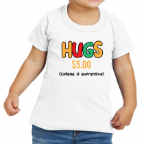 Funny Baby's And Toddler Shirts Hugs 5$