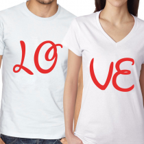 Valentine's Day Couples Matching T-shirt LOVE