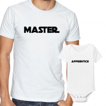 Father's Day Daddy & Me Matching Set Shirts & Bodysuits Master/Apprentice