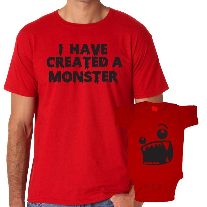 Father's Day Daddy & Me Matching Set Shirts & Bodysuits I Have Created A Monster