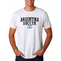 Argentina Men's Soccer T Shirt Country Team