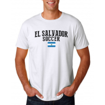 El Salvador Men's Soccer T-Shirt Country Team