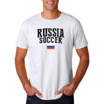 Russia Men's Soccer T-Shirt Country Team