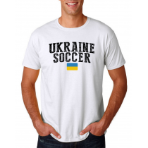 Ukraine Men's Soccer T-Shirt Country Team