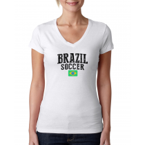 Brazil Women's Soccer T-Shirt Country Team