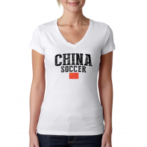 China Women's Soccer T-Shirt Country Team