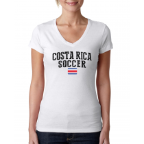 Costa Rica Women's Soccer T-Shirt Country Team