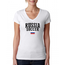Russia Women's Soccer T-Shirt Country Team