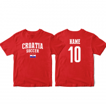 Croatia Men's Soccer T-Shirt Country Team