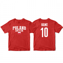 Poland Men's Soccer T-Shirt Country Team