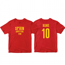 Spain Men's Soccer T-Shirt Country Team