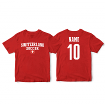 Switzerland Men's Soccer T-Shirt Country Team
