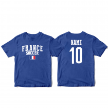 France Men's Soccer T-Shirt Country Team