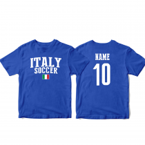 Italy Men's Soccer T-Shirt Country Team