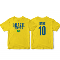 Brazil Men's Soccer T-Shirt Country Team