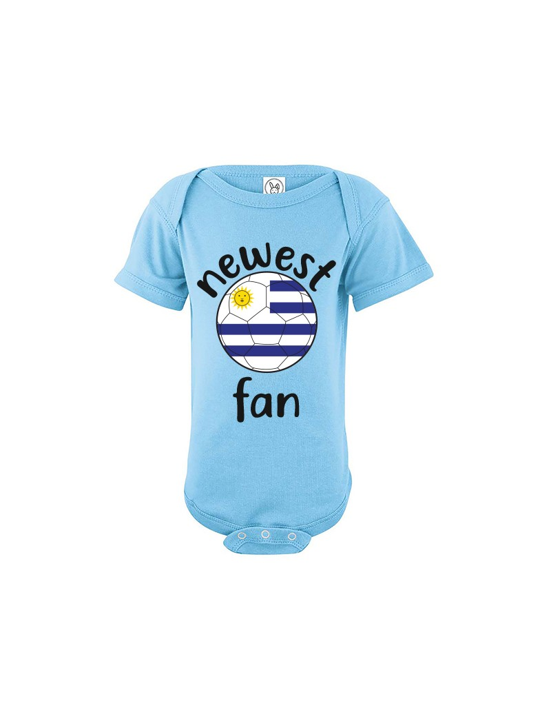 Uruguay Newest Fan Baby Soccer Bodysuit
