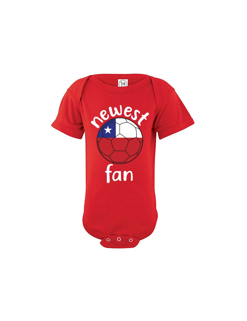 Chile Newest Fan Baby Soccer Bodysuit