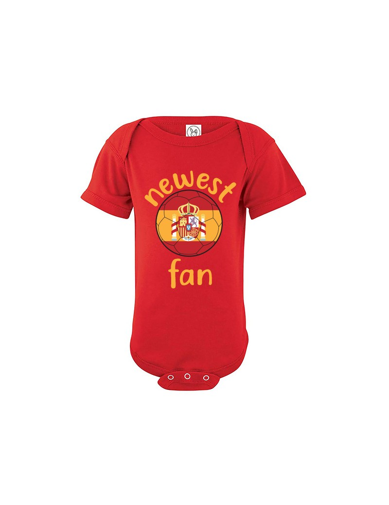 Spain Newest Fan Baby Soccer Bodysuit