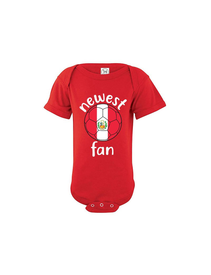 Peru Newest Fan Baby Soccer Bodysuit