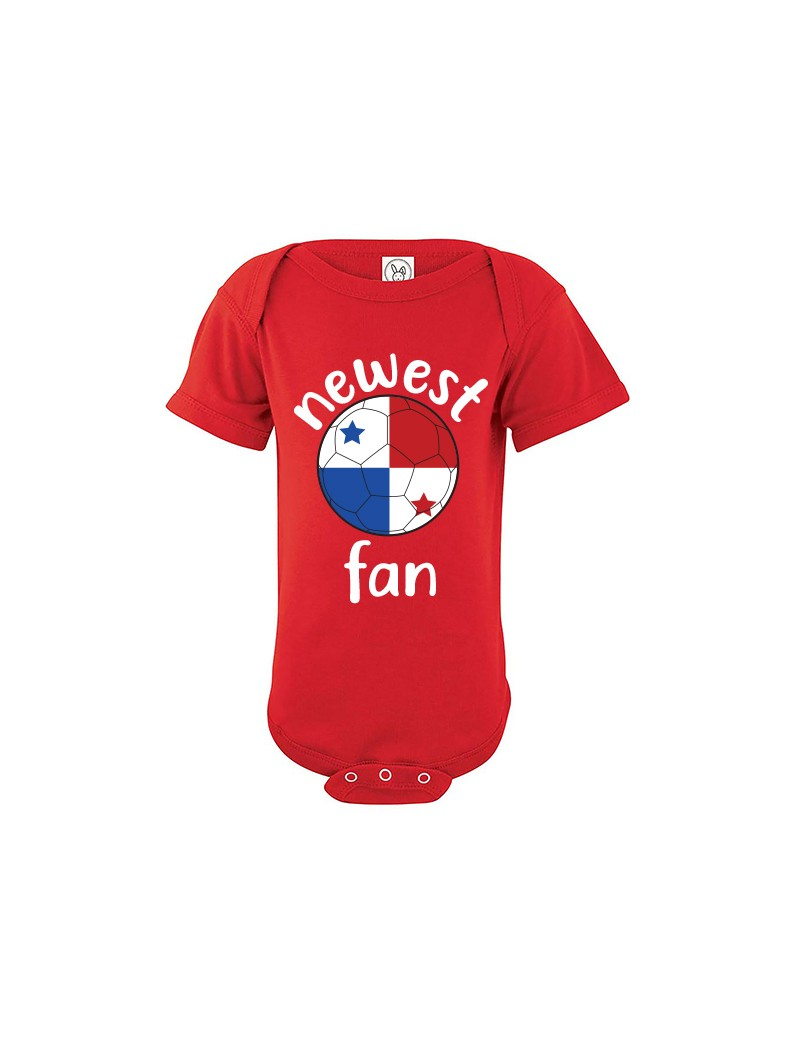 Panama Newest Fan Baby Soccer Bodysuit