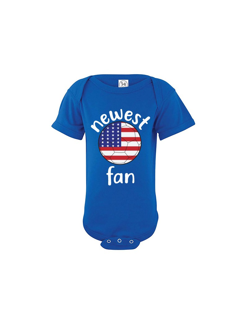 United States Newest Fan Baby Soccer Bodysuit