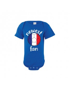 France Newest Fan Baby Soccer Bodysuit