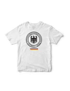 Germany Men's Soccer T-Shirt Deutschland Logo