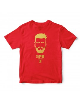 Spain Men's Soccer T-Shirt Gerald Pique Shirt