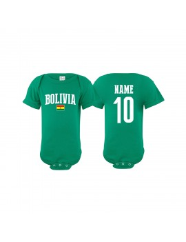 Bolivia flag Country Baby Soccer Bodysuit