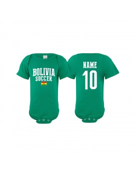 Bolivia Country Baby Soccer Bodysuit