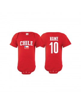 Chile Soccer Baby Clothes & Apparel Country Baby Soccer Bodysuit