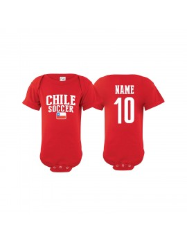 Chile Soccer Baby Clothes & Apparel Country Baby Soccer Bodysuit World cup